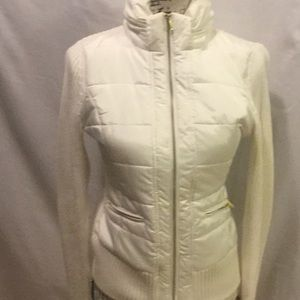 Gorgeous Cache cream puffer sweater size s